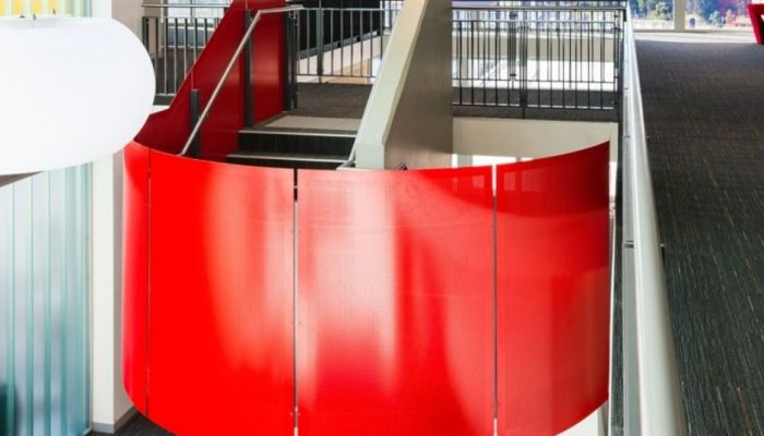 Shapely style: Creating curved perforated metal