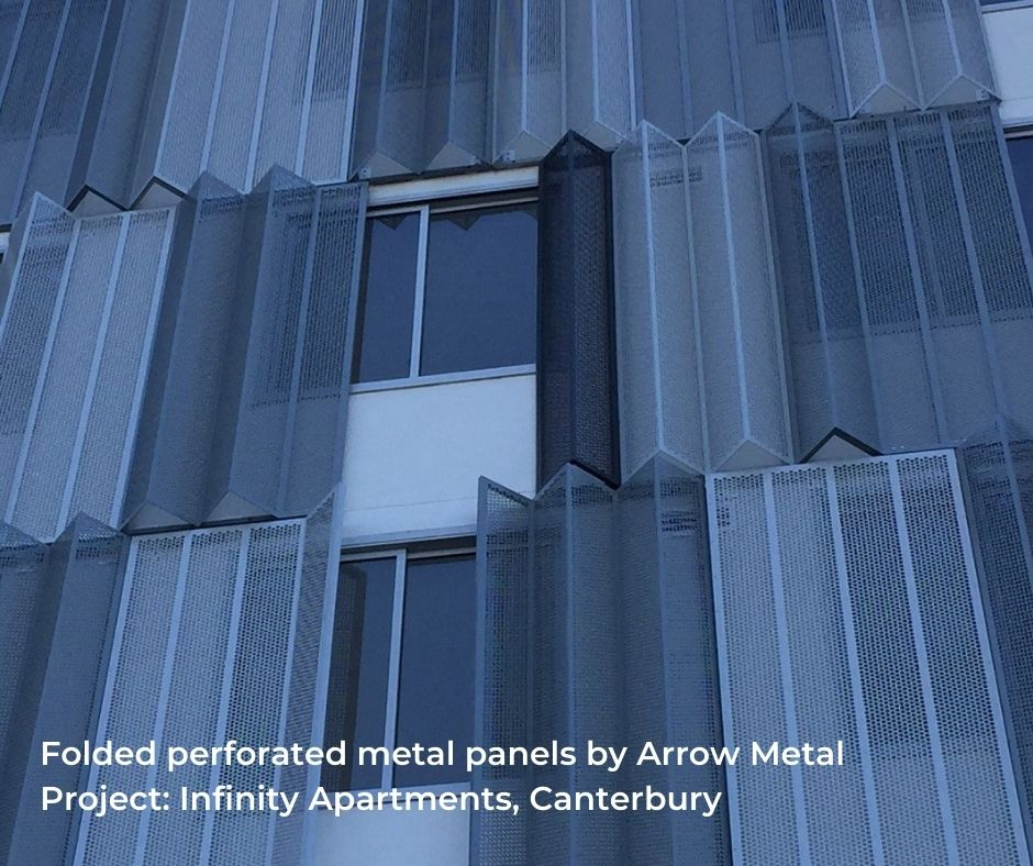 Curved perforated metal by Arrow Metal - Infinity Project
