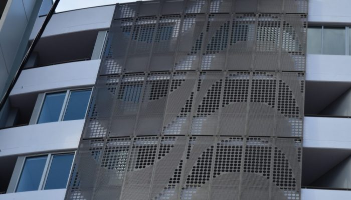 Go big with large perforated metal panels